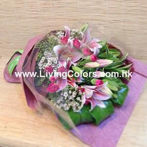 carnation & lilies bouquet