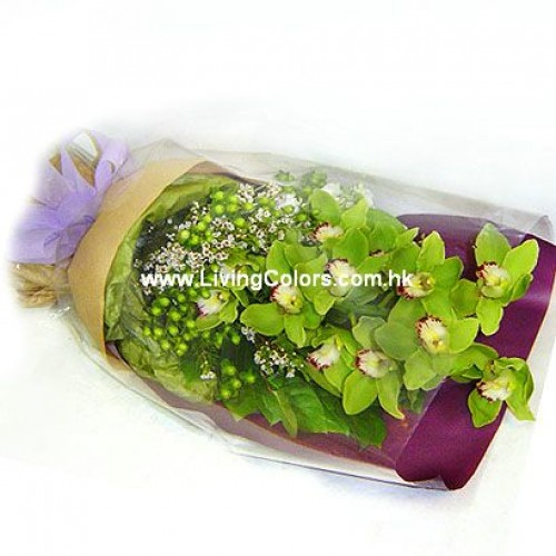 Green Cymbidium Bouquet