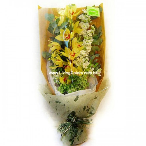 Yellow Cymbidium Bouquet