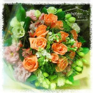 Deep Champagne Rose Bouquet