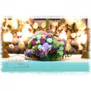 Sympathy flower centrepiece